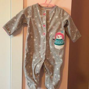 Baby girl polar pajama 0-3 months  ⛄️